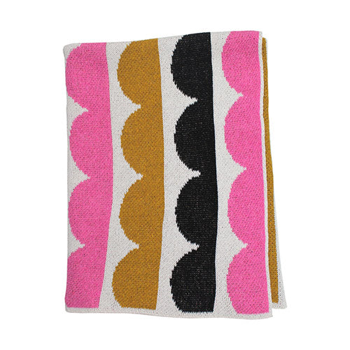 Hippos Baby Blanket (Pink/Gold)