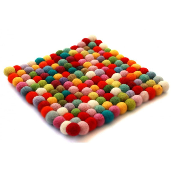 Felt Ball Trivet Multi-Color