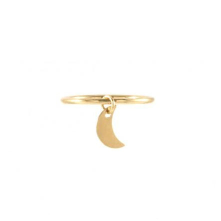 Ibiza Crescent Moon Charm Ring