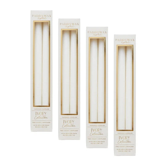 Ivory Tapered Candles Box