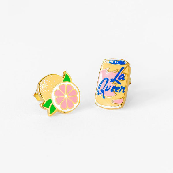 LaQueen & Grapefruit Earrings