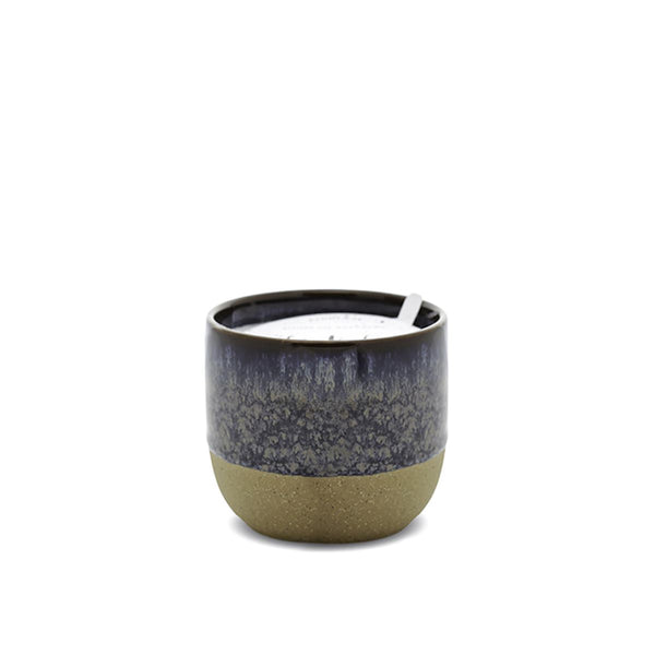 Kin 6 oz Black Reactive Dripped Glaze Candle - Black Fig + Rose