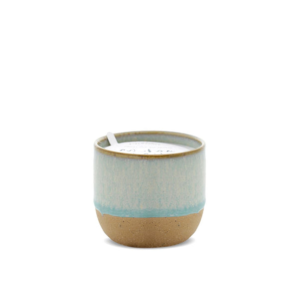 Kin Mint Reactive Dripped Glaze Candle - Matcha Tea + Bergamot