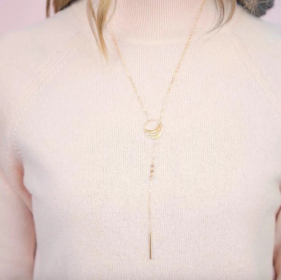 Needle & Thread Lariat Necklace