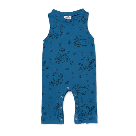 Tank Jumpsuit - Octopus - Steel Blue