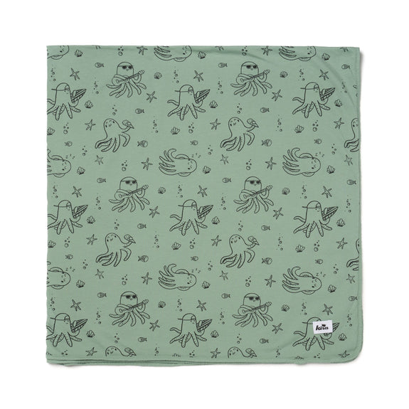 Swaddle Blanket - Octopus - Celadon