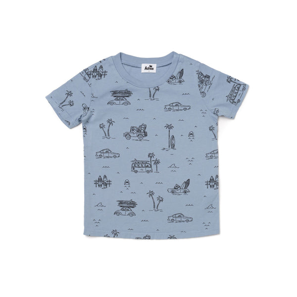 SS Tee - Surf - Stone Blue