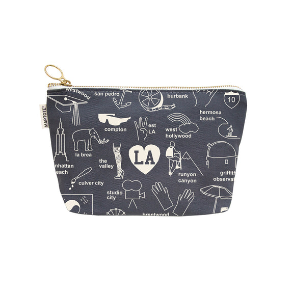 Los Angeles Zipped Pouch (Gray)