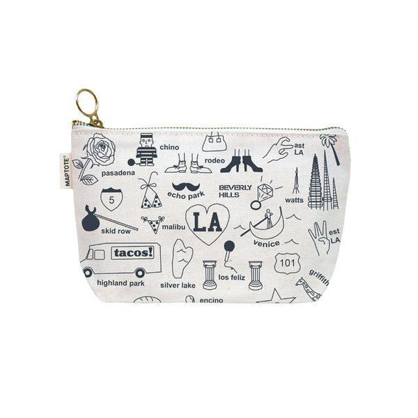 Los Angeles Zipped Pouch Natural