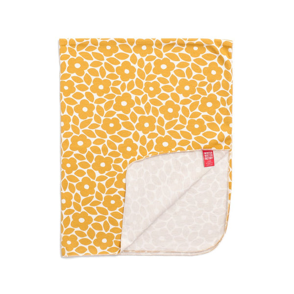 Lightweight Jersey Baby Blanket Marrakesh Floral Yellow