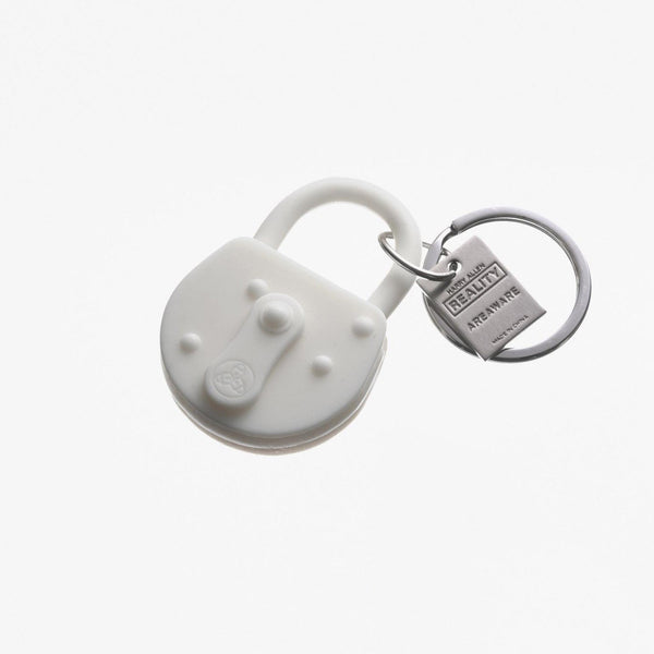 White Reality Lock Keychain