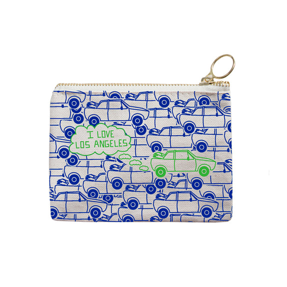 Los Angeles Coin Purse - Blue/Green