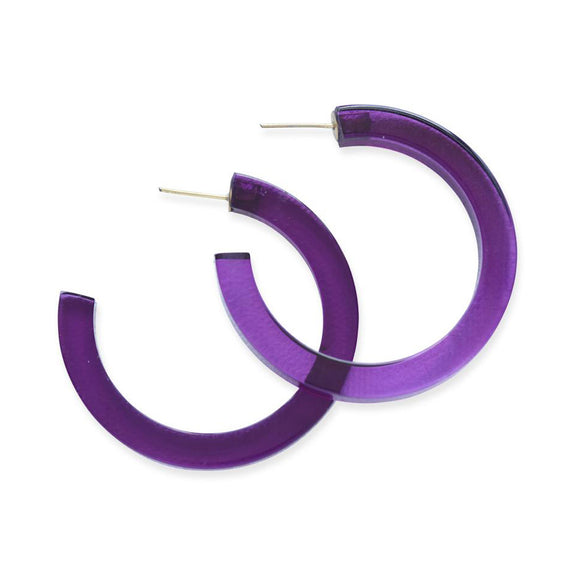 Lucite Hoop Small Eggplant