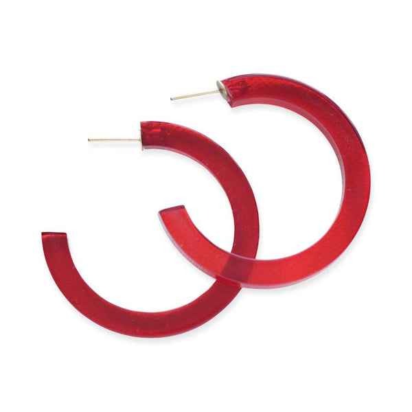 Lucite Hoop Small Red