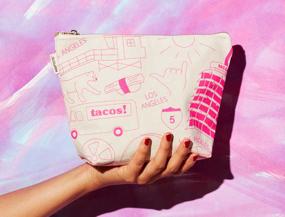 Los Angeles Make Up Pouch Natural