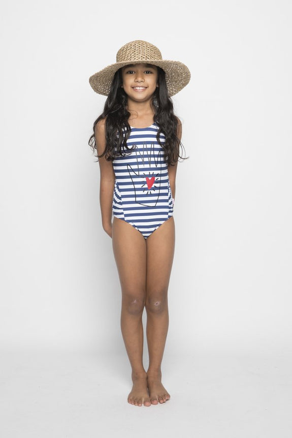 Nautic Bathing Suit Navy Stripe