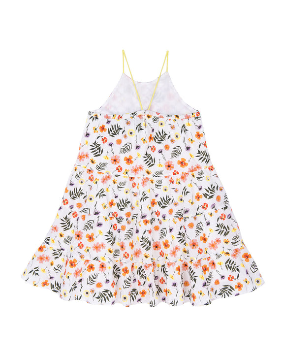 Lara Tiered Dress - Pressed Flowers