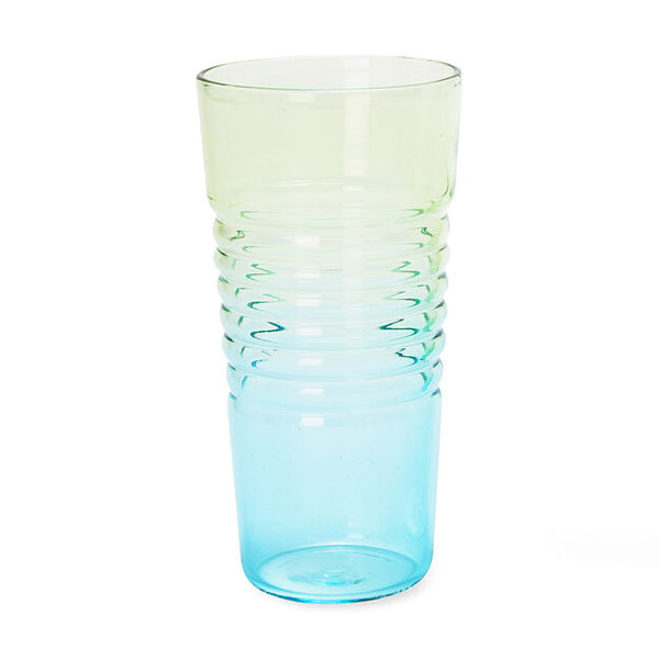 Ombré Milk Glasses - Blue/Green