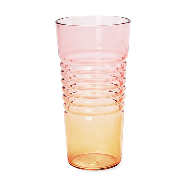 Ombré Milk Glasses - Pink/Orange