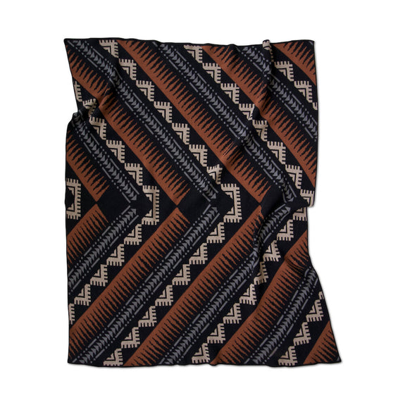 Phoenix Black Throw