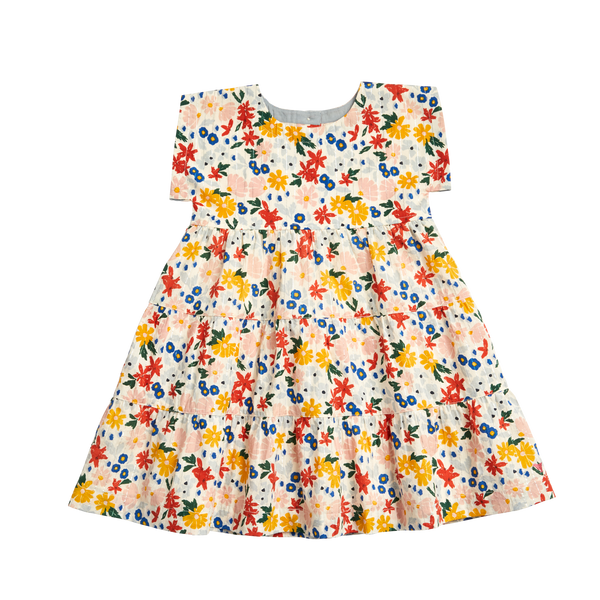 Peachy Dress - Multi Floral