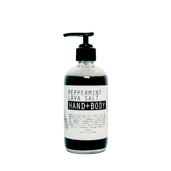 Peppermint Lava Salt Hand+Body Wash 8oz
