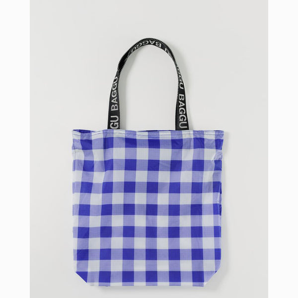 Ripstop Tote Big Check Blue