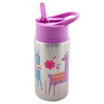 Stainless Steel Kids Water Bottle - Llama
