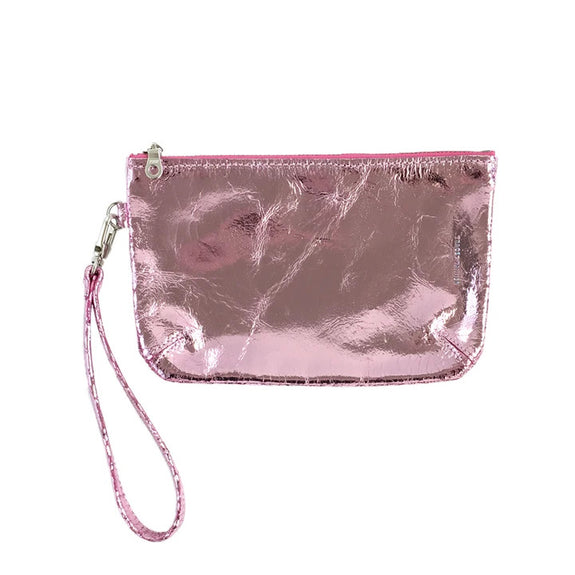 Wristlet Pouch, Small (Baby Pink Foil)