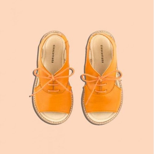 Crepe Lace Sandals Brick