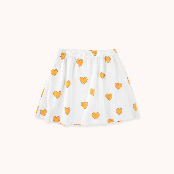 Hearts Skirt - Off-White/Yellow
