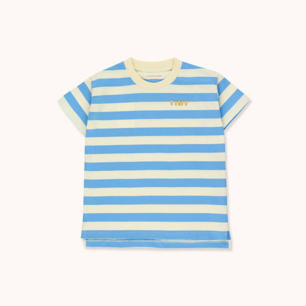 """Tiny"" Stripes Tee - Lemonade/Blue"