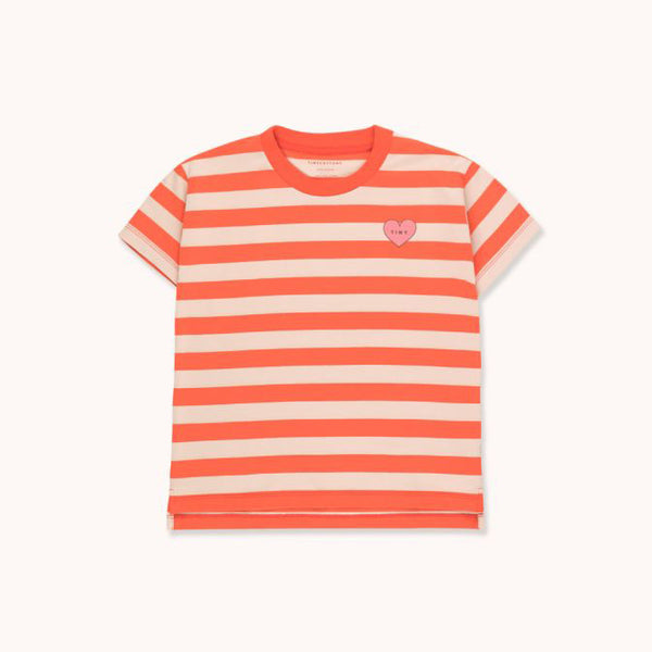 """Heart"" Stripes Tee - Red"