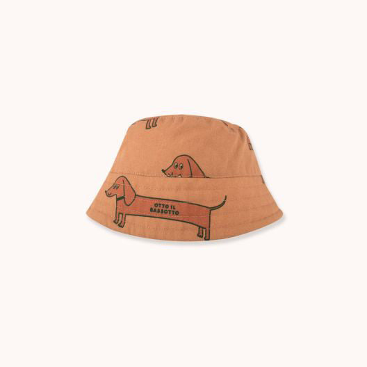 """Il Bassotto"" Bucket Hat - Tan/Cinnamon"