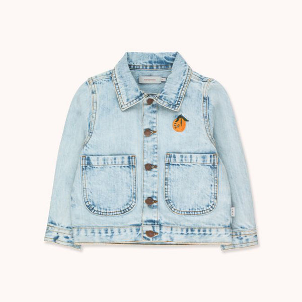 Embroidered Denim Jacket - Washed Blue