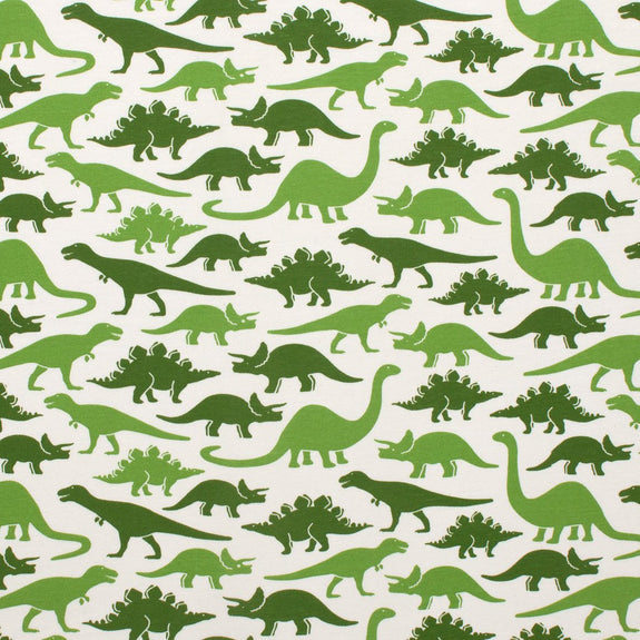 Short Sleeve Snapsuit Dinosaurs Green