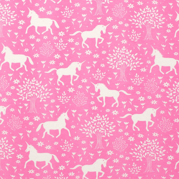 Lightweight Jersey Baby Blanket Magical Forest Pink