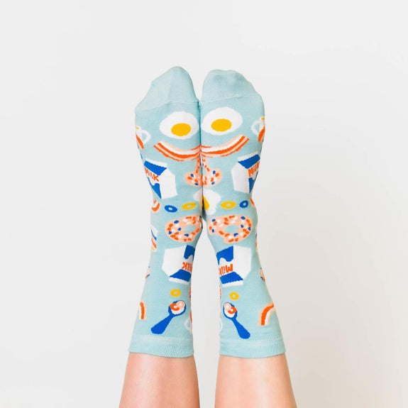 Women's Crew Socks Breakfast