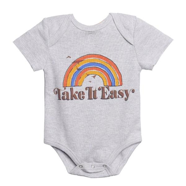 Baby Onesie Grey Rainbow