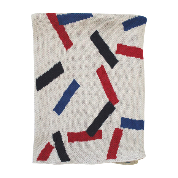 Sprinkles Mini Blanket - Cherry/Navy