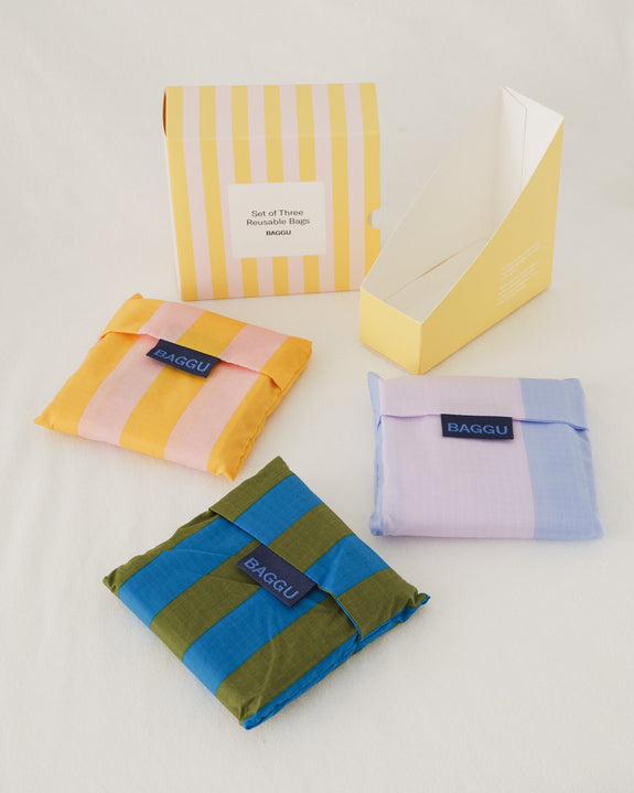 Standard Baggu Set of Three Leisure Stripes