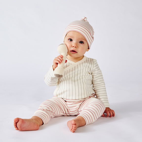 Stripes Away Knot Hat Pink
