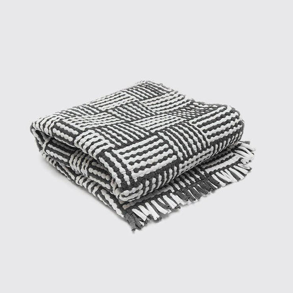 Cotton Loom Mat Black/White