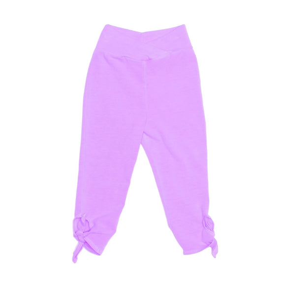 Tie Capri Pants - Neon Grape