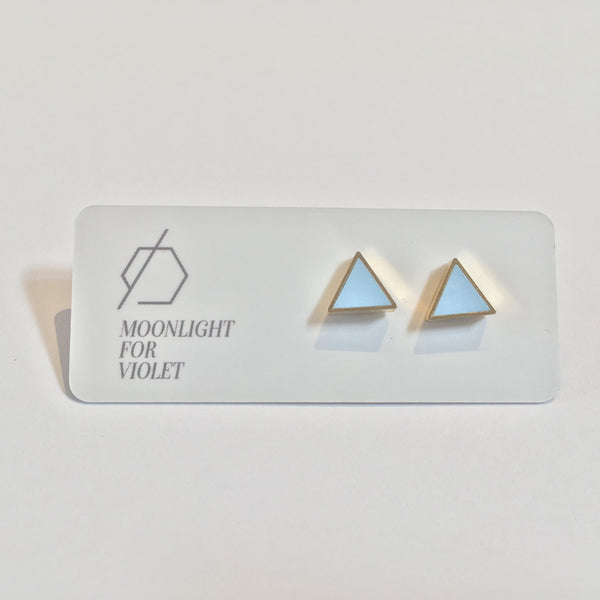Brass & Clay Triangle Studs - Various