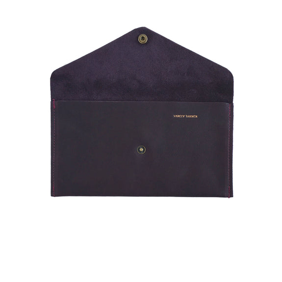 Large Violet Envelope Wallet - Black