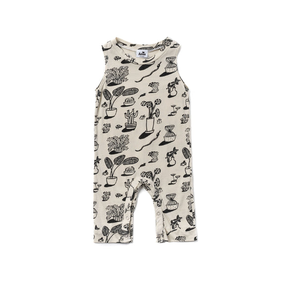 Kira Plants Tank Romper Natural