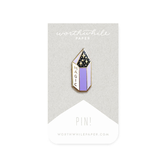 Enamel Pin - Magic Amethyst Crystal