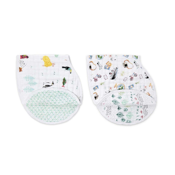 Classic Burpy Bib Set of 2 - Around the World