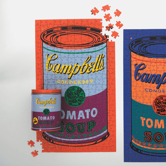 Andy Warhol Soup Can Puzzle Red/Violet